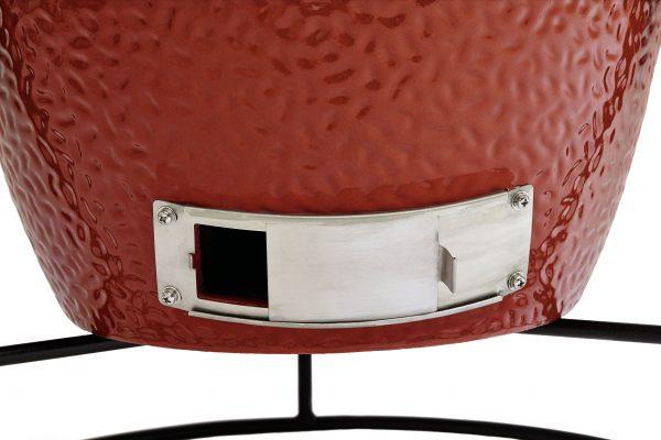 """KamadoJoe joejunior trampilla tiraje 1 scaled <span style=""""font-weight: 400;"""">Compartiendo el mismo diseño y la funcionalidad del Clásico II, pero con una superficie de cocina aún mayor 61 cm, el Big Joe es nuestro kamado más profesional y perfecto para familias numerosas o grupos grandes.</span>"""