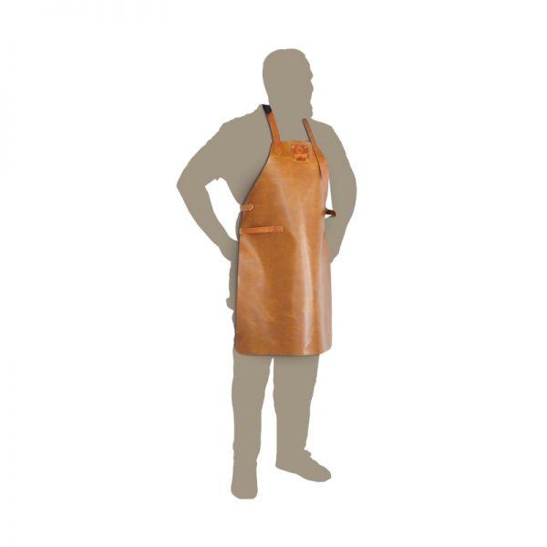 delantal ofyr cuero marron talla unica Delantal de trabajo cuero marrón